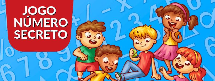 Crianças brincando de atividade com sequência numérica.