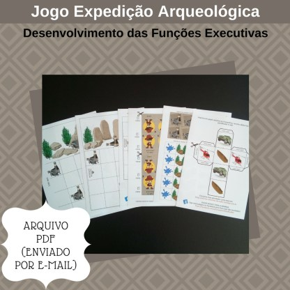 Jogo Expedição Arqueologica com atividades para portadores de TDAH em PDF.