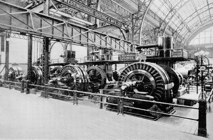 Seu motor elétrico em funcionamento na hidroelétrica das Cataratas do Niágara