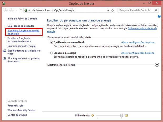 Como ativar o botão de Hibernar no Windows 10 e no Windows 8