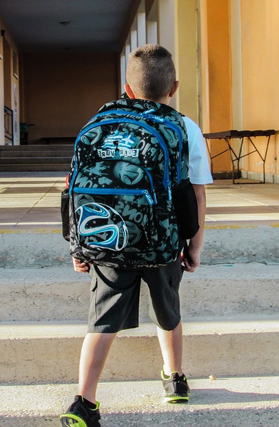 Mochila escolar sin ruedas