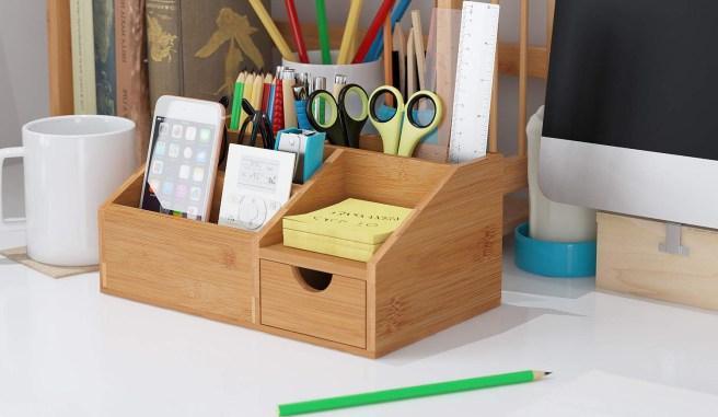 Organizadores de escritorio de bambú
