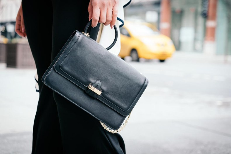 Go Big or Go Home: Flared Everything | Parisa NYC Hooked Lady Bag | Of Leather and Lace | A Fashion Blog by Tina Lee