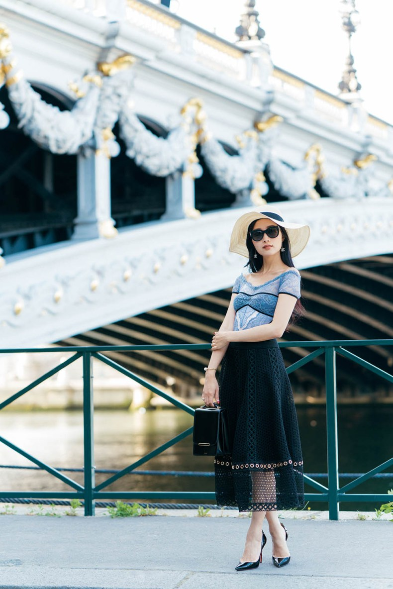 Romantic Outfits: Off The Shoulder Lace Bodysuit in Paris, France | Of Leather and Lace