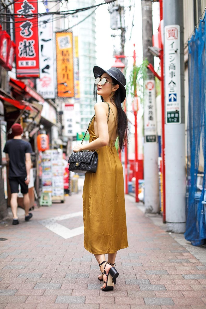 How To Style A Slip Dress For Fall In Tokyo Japan Of