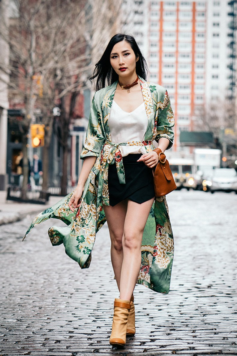 How to Style a Silk Robe for Spring | Of Leather and Lace - Fashion Blog by Tina Lee