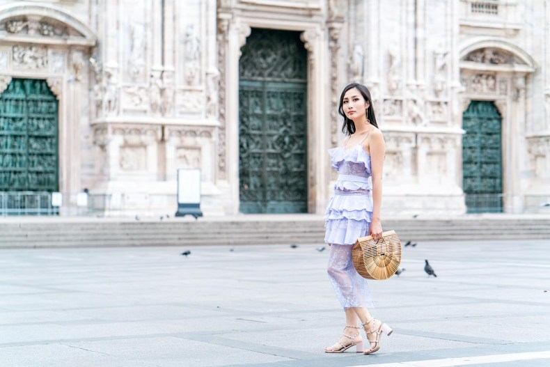 The Perfect Tiered Dress For Your Next City Vacation | at Milan Cathedral, Italy | Of Leather and Lace