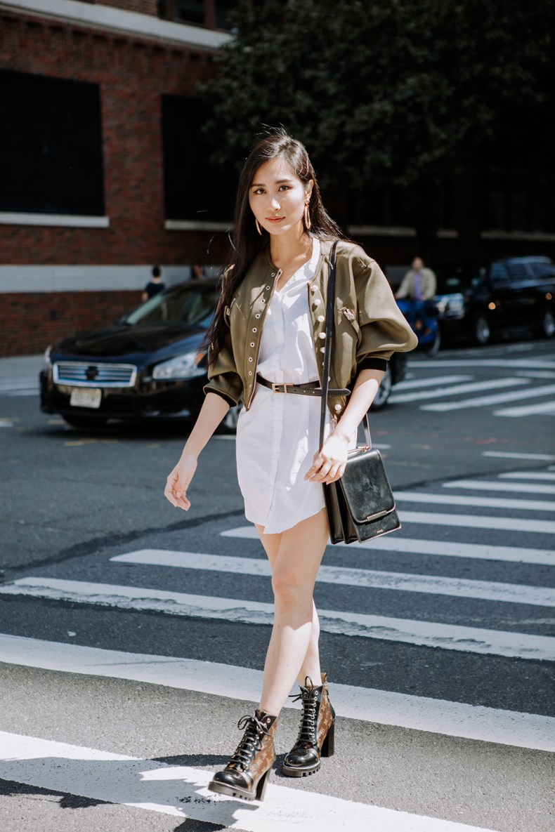 Tina Goes to New York Fashion Week Spring Summer 2018 (NYFW Recap) | New York Fashion Week Street Style Shots | Phillip Lim Pearly Bomber | Of Leather and Lace