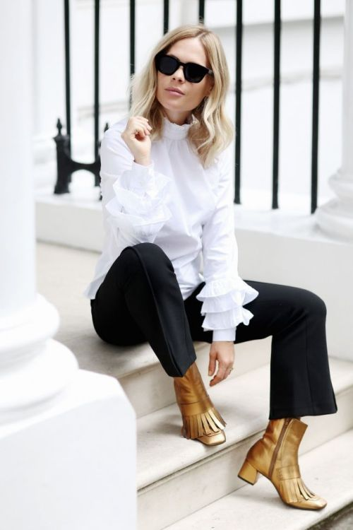 How To Wear Metallic Boots For The Weekend | Of Leather and Lace - Fashion & Travel Blog by Tina Lee