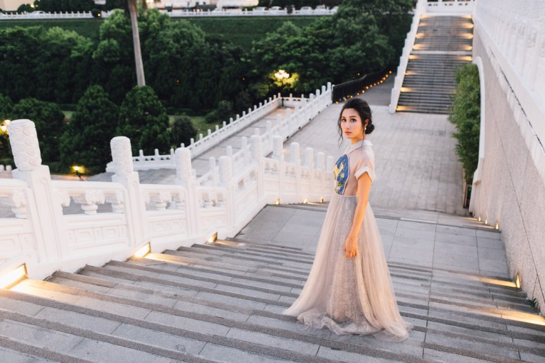 Brand Crush: Vernalmania - Couture Gowns With A Story   Of Leather and Lace - Fashion Blog by Tina Lee   asian inspired fashion, taipei national palace museum, blue gown, oriental fashion