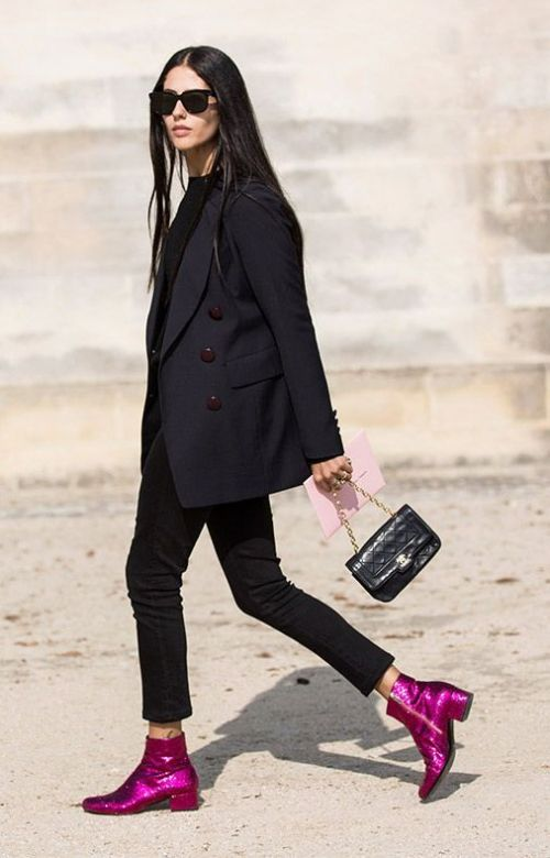 How To Wear Metallic Boots To Work | Of Leather and Lace - Fashion & Travel Blog by Tina Lee