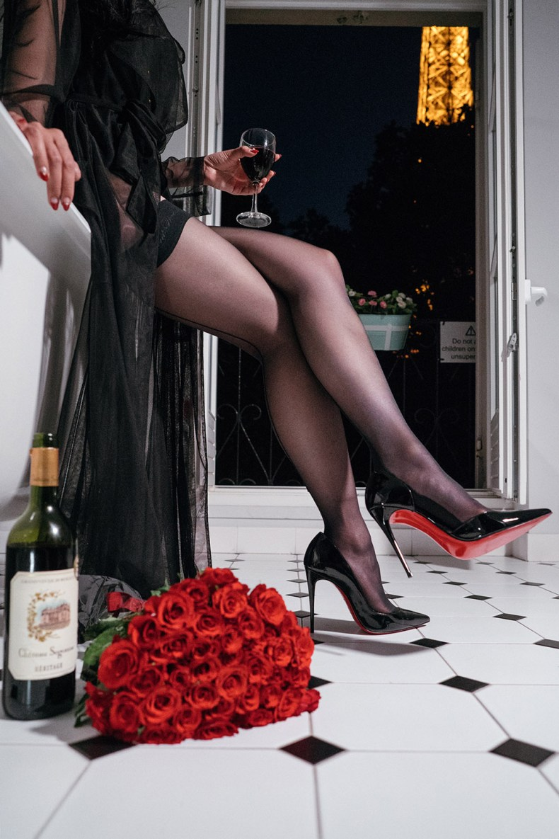 Sheer Tight High Stockings and Patent Leather Heels | in Paris | Ofleatherandlace.com