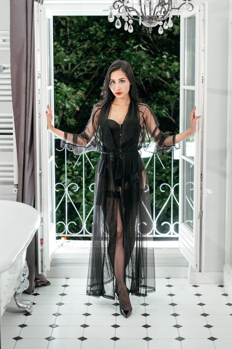 Embrace Your Feminine Side and Sensuality - Sexy Lingerie and Sheer Robe | in Paris | Ofleatherandlace.com