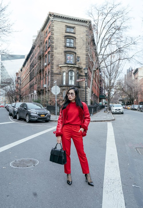 How to Wear Red from Head to Toe Masterfully | OF Leather and Lace | Fashion Blog by Tina Lee