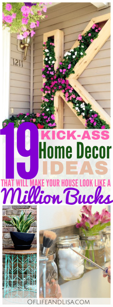 19 Amazing DIY Home Decor Ideas Of Life and Lisa