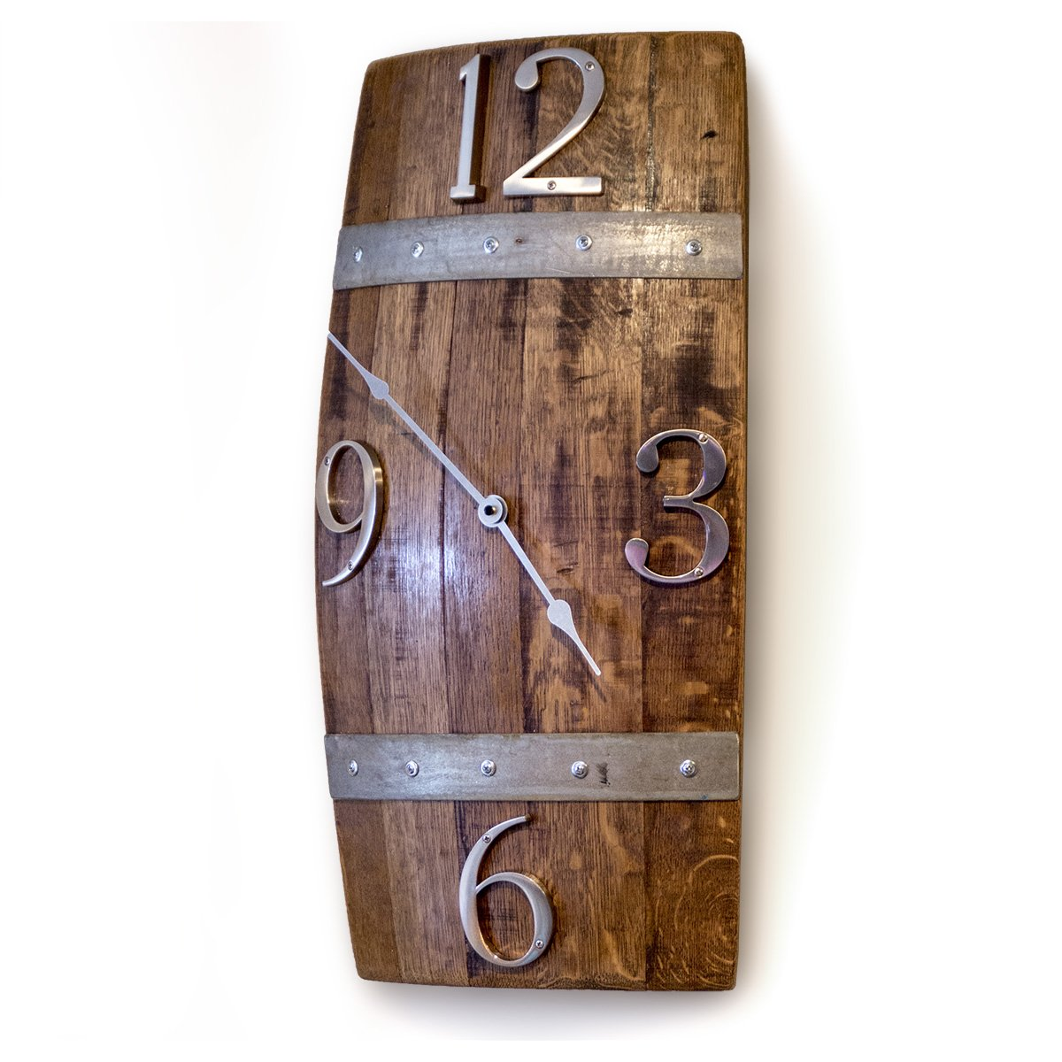 Barrel Stave Wall Clock