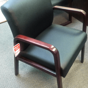 Alera Reception Lounge Series Guest Chair, Mahogany/Black