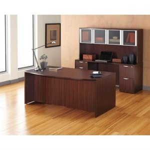 Alera Valencia Series Desk/Hutch Configuration