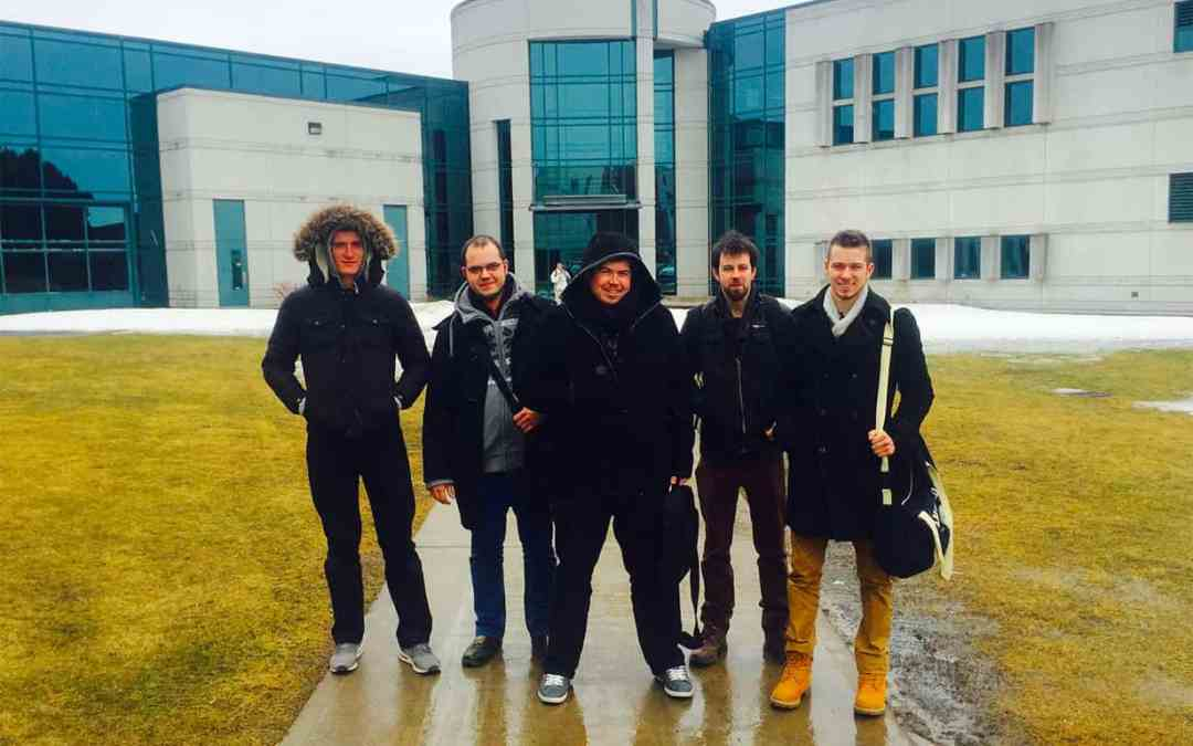 5 compagnons du tour de France en voyage d'études au Québec