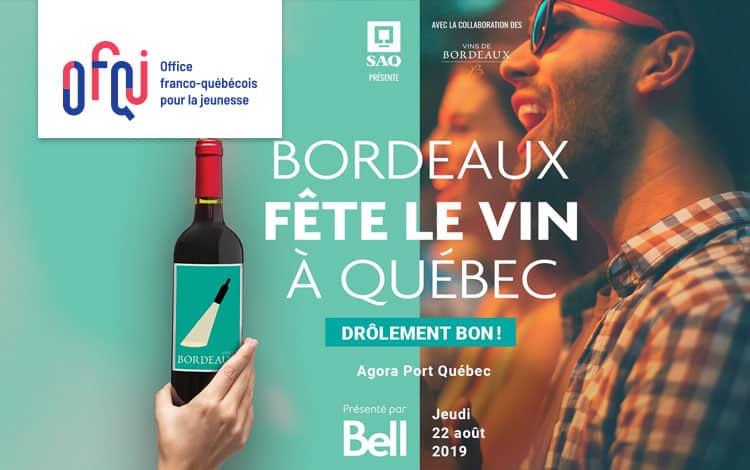 Bordeaux fête le vin à Québec 2019
