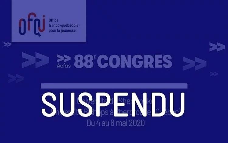 Congrès de l'Acfas 2020 – suspendu