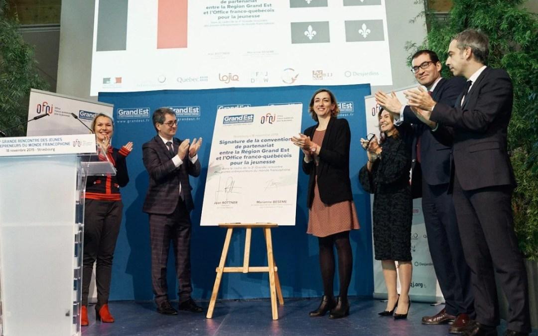 Convention : la région Grand Est en étroite collaboration avec l'OFQJ