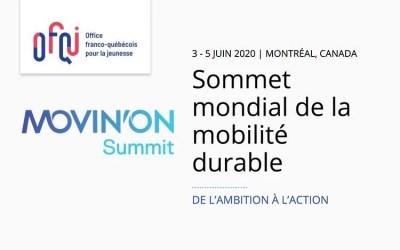 Sommet Mondial de la mobilité durable – Movin'on 2020