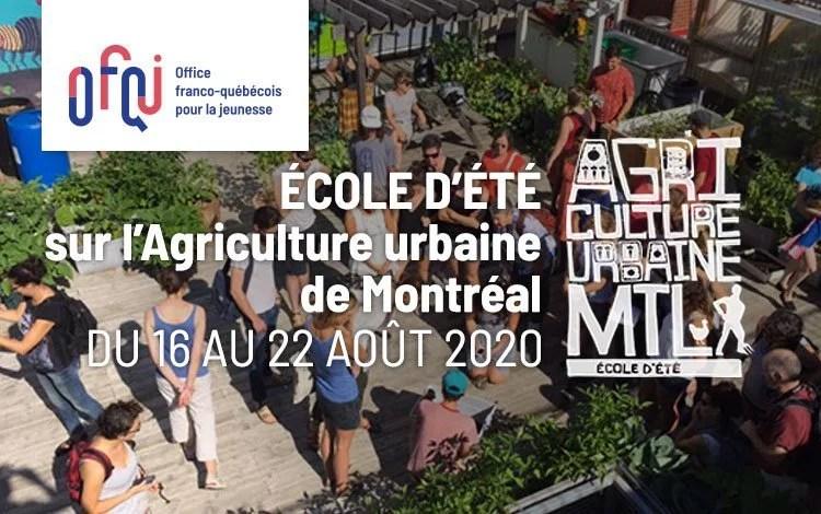 École d'été sur l'Agriculture urbaine de Montréal 2020