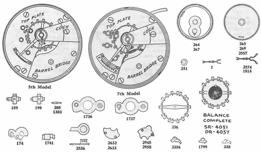 pocket watch movement diagram johnson controls a419 wiring elgin 18 size parts information