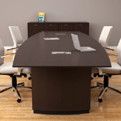 Conference Tables And Chairs Dining Chair Modern New Used Room Discount Boardroom Furniture 6 8 Foot Table In Dark Wood Veneer With Five White Meeting