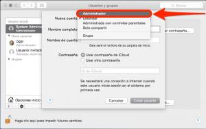 usuario administrador en os x