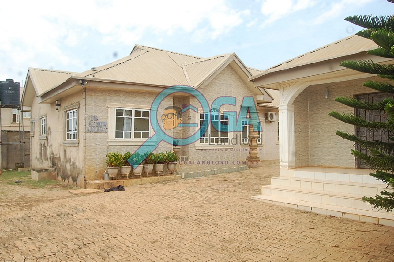 A Compound with 3 Bungalows and an Upstairs Foundation for Sale at Igbogbo, Ikorodu, Lagos