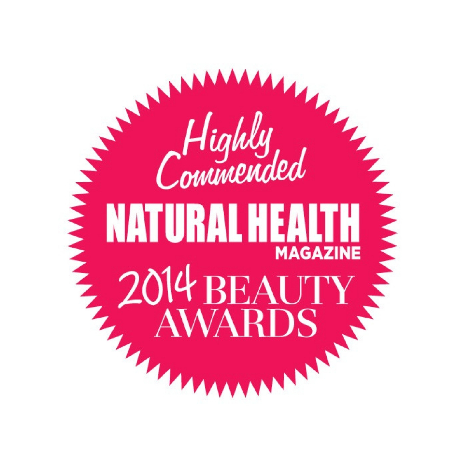 natural health mag highly commended logo