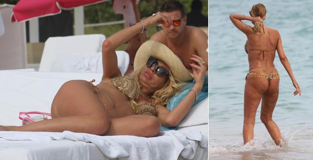 Valeria Marini sirena a Miami Ma  tutta cellulite  Gossip
