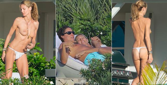 Heidi Klum topless strepitoso ai Caraibi con il fidanzato