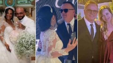 Gigi D'Alessio e la nuova baby fidanzata Denise Esposito, prima uscita ufficiale di coppia al matrimonio dell'amico rapper