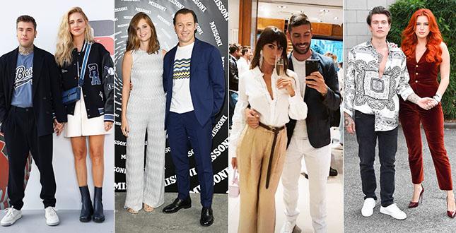 Chiara Ferragni e Fedez, Stefano Accorsi e Bianca Vitali, Cecilia Rodriguez e Ignazio Moser e tutte le altre coppie: l'amore vip scalda la Milano Fashion Week