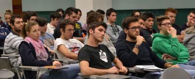 Una parte degli studenti presenti