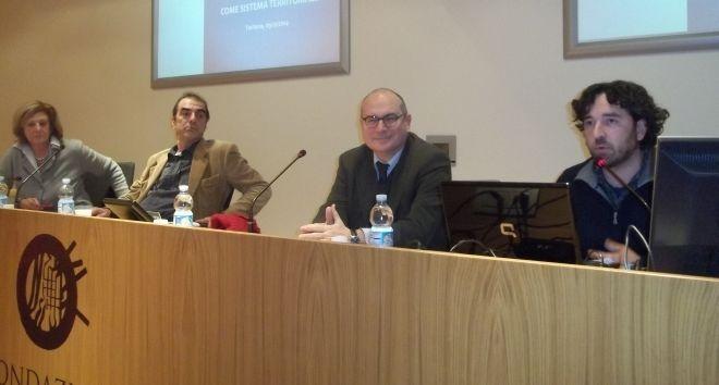 I relatori al convegno di dicembre alla sala della Fondazione