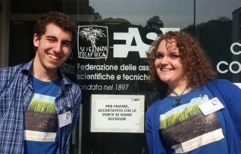 Parlano Francesca Cioccariello e Matteo Poggio, finalisti ad un progetto nazionale di scienze
