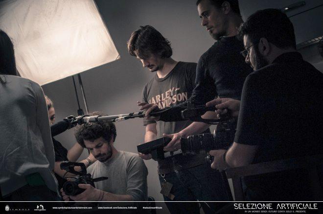 Un momento delle riprese