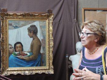 Aurora Scotti illustra la mostra