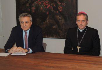 Il presidente della Fondazione Dante Davio e il Vescovo Vittorio Viola