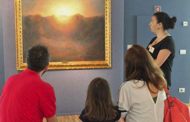 """Bambini e genitori in visita alla Pinacoteca della Fondazione per l'ultimo appuntamento del """"Divisionismo in famiglia"""""""