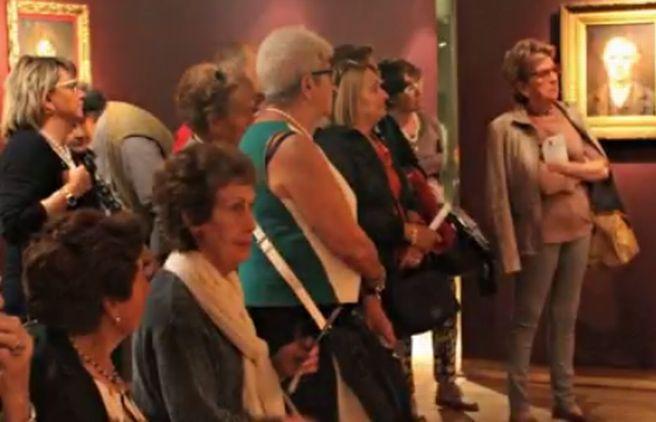 """Al """"Divisionismo"""" un gruppo di donne provenienti da Sant'Agata Fossili"""