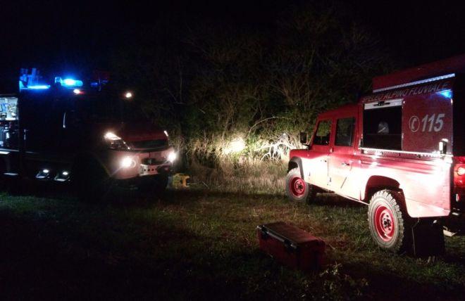 Incendio nella notte tra Berzano di Tortona e Monleale