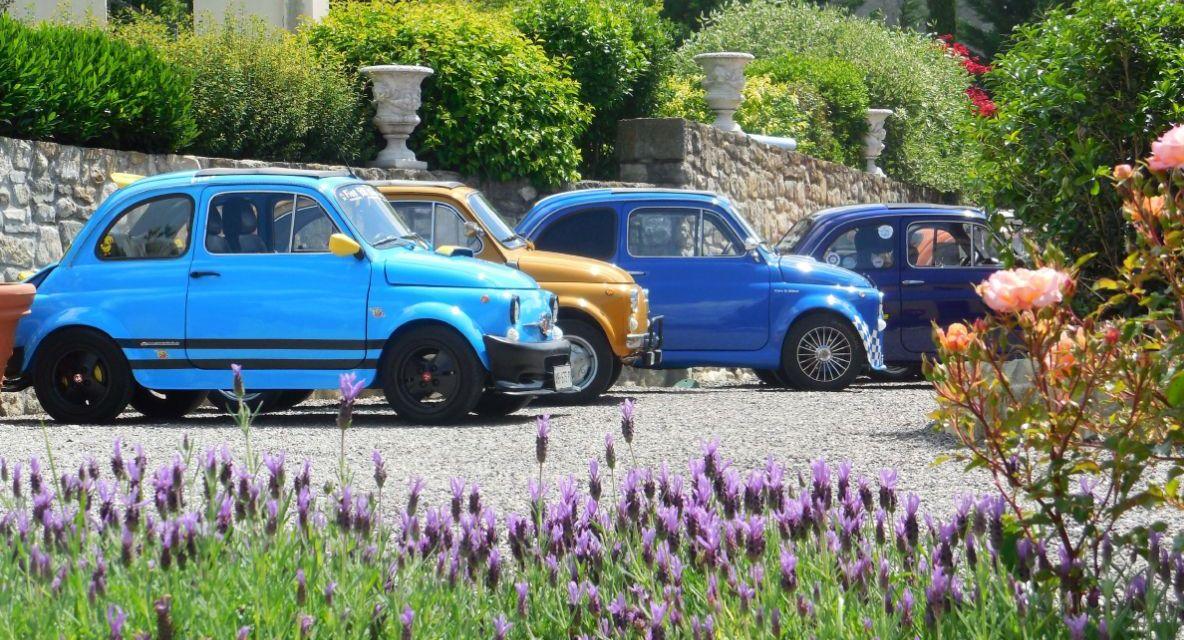 A Imperia un raduno di Fiat 500 a Borgo Parasio