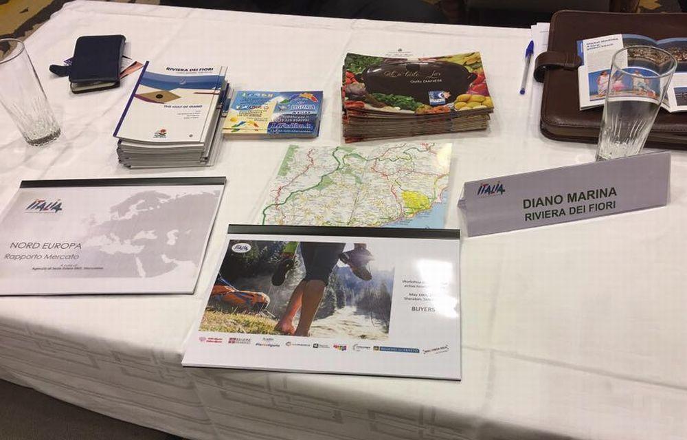 Depliant, brochure e tante parole in inglese hanno fatto conoscere Diano Marina agli svedesi