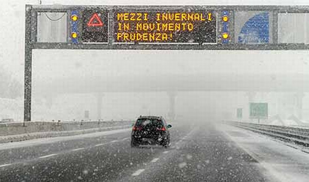 Aggiornamento sull'allerta neve in provincia di Imperia dall'Arpal