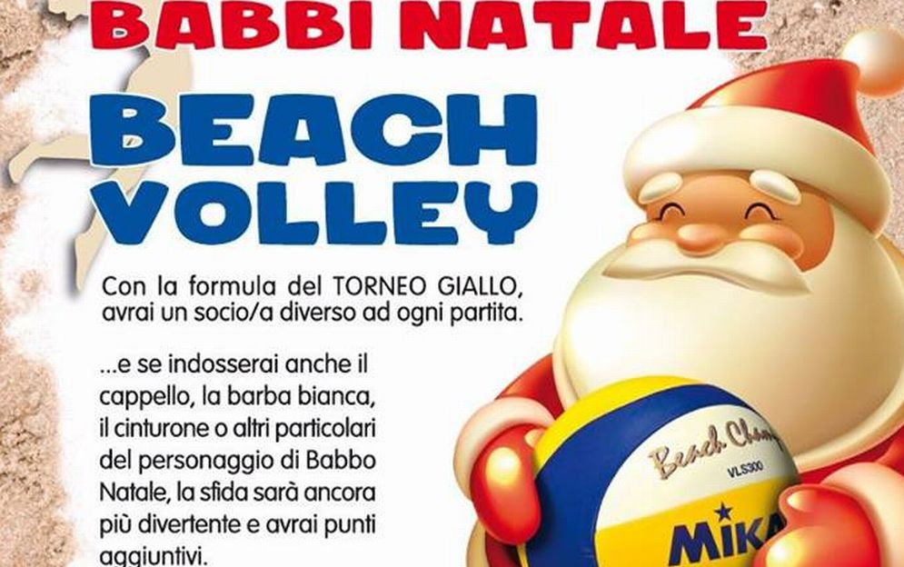 Sabato a San Bartolomeo c'è il torneo dei Babbi Natale di Bech volley al chiuso